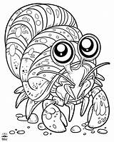 Coloring Lobster Sea Fish Creatures Underwater Colouring sketch template