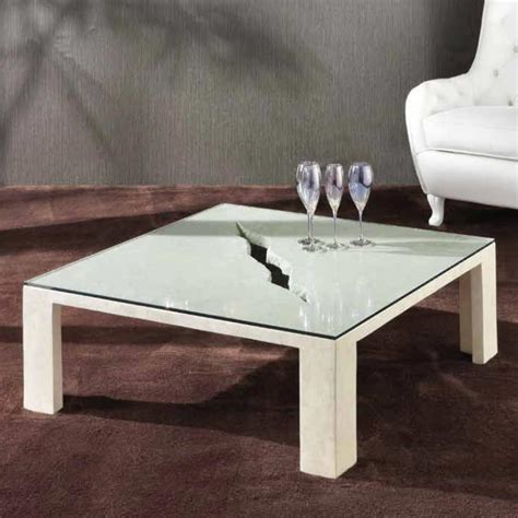 crackle glass table l crackle rectangular stone glass coffee table sto