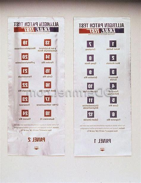 patch test sostanze patch test per dermatiti da contatto varglex