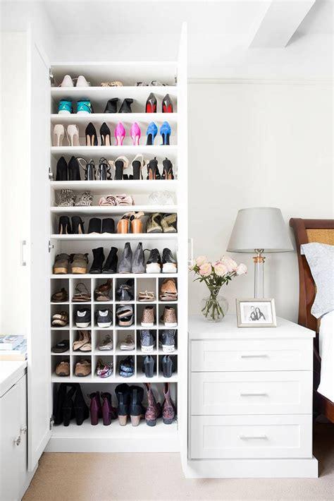 california closets shoe closet makeover domino