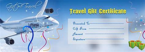 travel gift voucher certificate template  gift