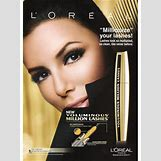 Loreal Mascara Ads | 300 x 400 jpeg 31kB