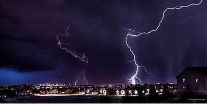 Lightning Strikes Storm Warning Strike Night Weather