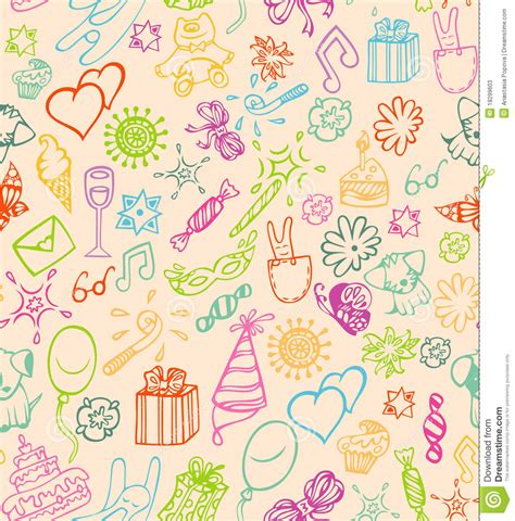 happy birthday pattern stock vector image of