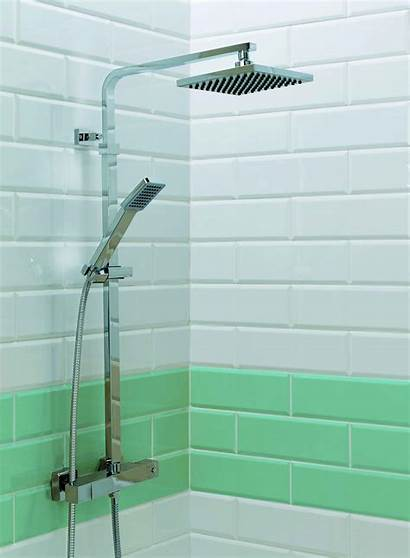 Shower Head Square Orkney Valve Thermostatic Exposed