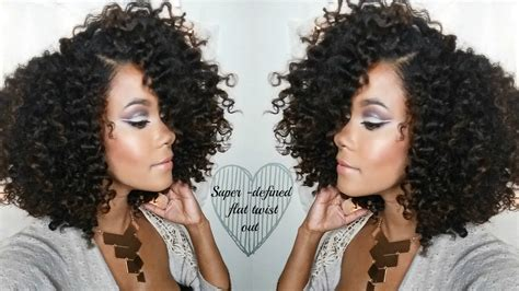 Twist Out Hairstyles For by Hair Defined Flat Twist Out Routine With Volume