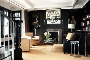 Black Sofa - Contemporary - living room - LDa Architects