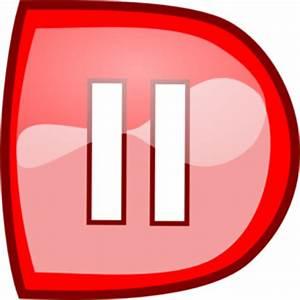 Red Pause Button Clip Art at Clker vector clip art