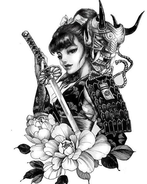 동물에 있는 윤동걸님의 핀 | 문신 아이디어, 게이샤, 아트 드로잉