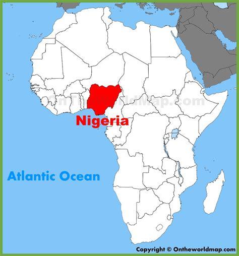 nigeria map  africa  travel information