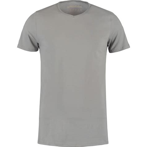 grijs basic  hals  shirts van shirtsofcotton  shirts