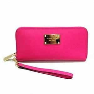 Michael Kors Saffiano Neon Pink Genuine Leather Iphone