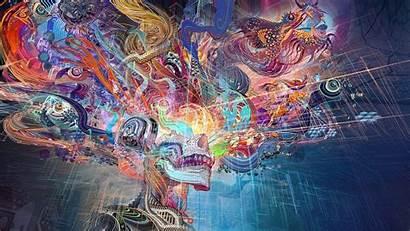 Chinese Dragon Colorful Skull Fantasy Abstract Desktop