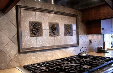 metal murals for kitchen backsplash kitchen backsplash mosaic and metal accent mural from 9152