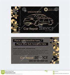 Automotive service business card template car diagnostics for Transport business cards templates free