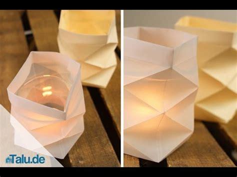 basteln papier knickwindlicht f 252 r teelichter aus papier basteln teelichthalter anleitung talu de