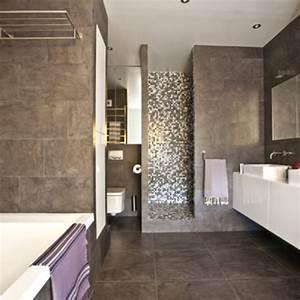 stunning salle de bain blanc et aubergine pictures With salle de bain gris et blanc