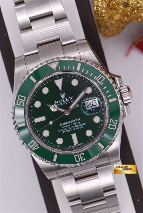 [SOLD] ROLEX OYSTER PERPETUAL SUBMARINER GREEN HULK Ref ...