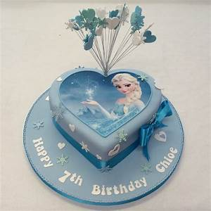 Heart Shaped Frozen Cake - Girls Birthday Cakes