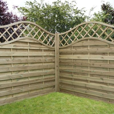 6ft Fence Panels With Trellis by Buy Mercia Horizontal Weave With Wavy Trellis Fence Panel