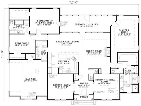 house plans with 3 master suites two master suites 59638nd architectural designs