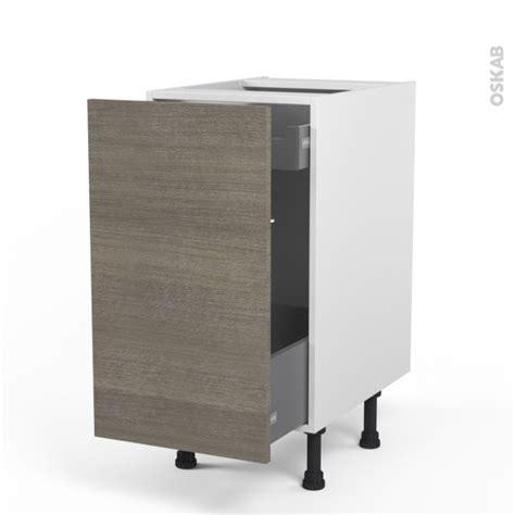 tiroir coulissant meuble cuisine meuble de cuisine bas coulissant stilo noyer naturel 1