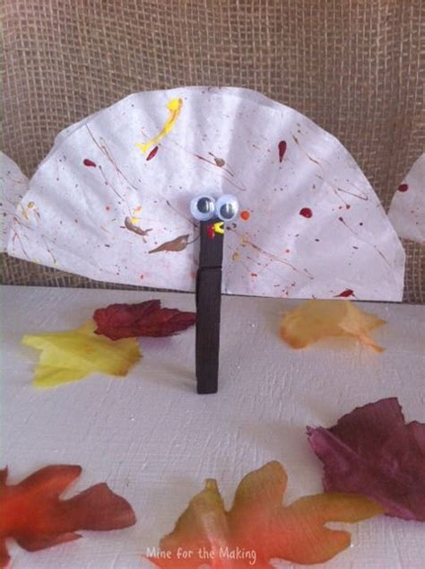teach  tuesday coffee filter clothespin turkeys