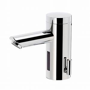 Iqua lino l10 basin fitting sensor with temp mixer w for Fitting lino in bathroom