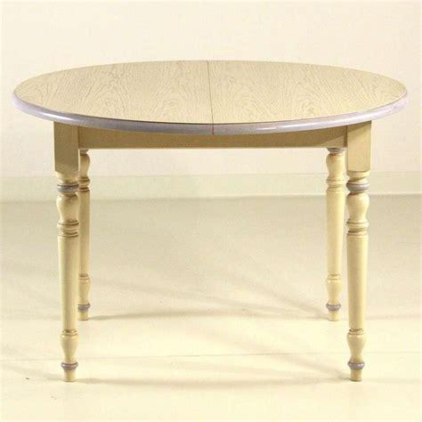 table et 4 chaises table en bois ronde avec allonges 4 chaises provençales