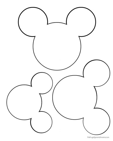 Mickey Mouse Shape Template by Diy Mickey Garland Decoration Our