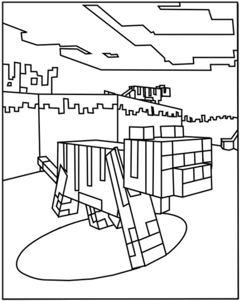 minecraft 18 printable coloring pages