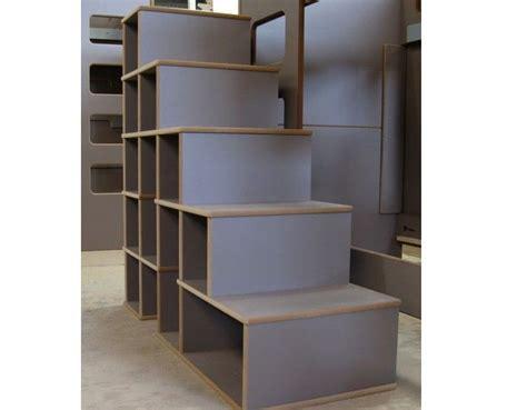 Escalier Avec Rangements, Largeur 129 X Profondeur 50 Cm X