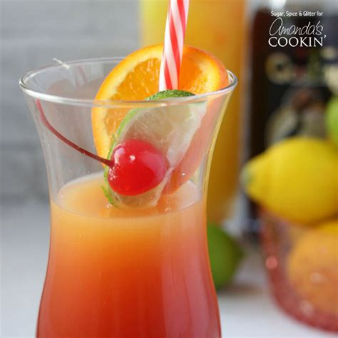 drinks with rum rum punch cocktail it s a caribbean sunset in a glass