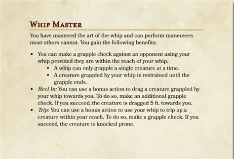 Homebrew For Whips In D&d 5e