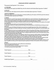 Lease option agreement lease purchase option ez for Rent to buy contract template