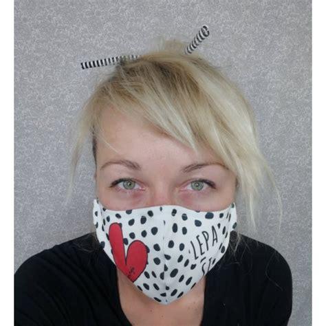 Bombažna maska - črna - MOJA MOJA