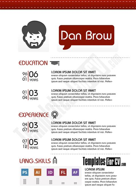 Resume Blob Contains A Bad Word by Graphic Design Resume Template By Templatesforcv On Deviantart