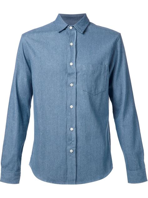 fadeless classic chambray shirt in blue for lyst