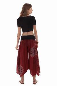 pantalon d ete pour femme original et colore edouard bordeaux With vêtements originaux femme