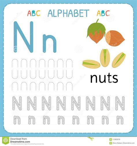 alphabet tracing worksheet  preschool  kindergarten