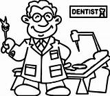 Coloring Dentist Doctor Dental Cartoon Sheets Wecoloringpage Ingrahamrobotics sketch template