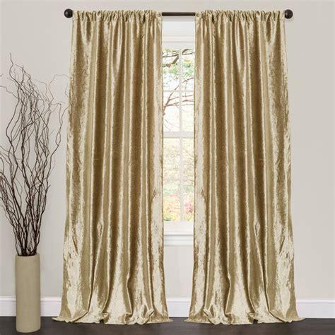 Lush Decor Velvet Dream Gold 84inch Curtain Panel Pair