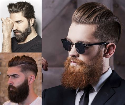 mens hair and beard styles best hairstyle for beards fade haircut 8002