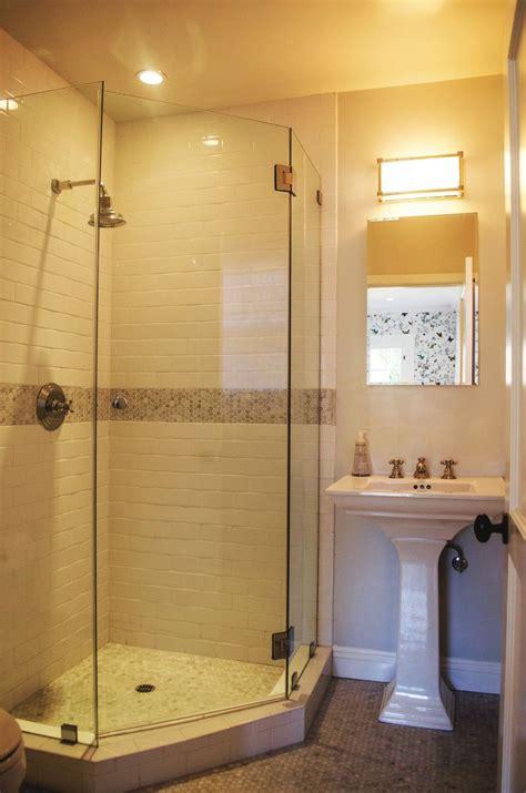 corner shower doors ideas  pinterest corner