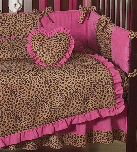 Cheetah Print Crib Bedding by Unique Pink Cheetah Animal Print Discount Designer 9p Baby