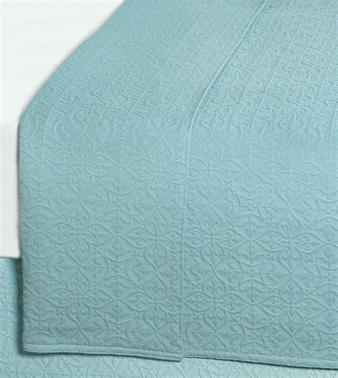 Aqua Coverlet by Luxury Bedding By Eastern Accents Mea Aqua Coverlet