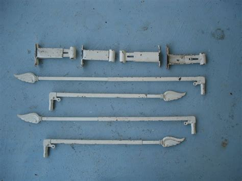 swing arm l hardware vintage swing arm curtain rods with wing finales