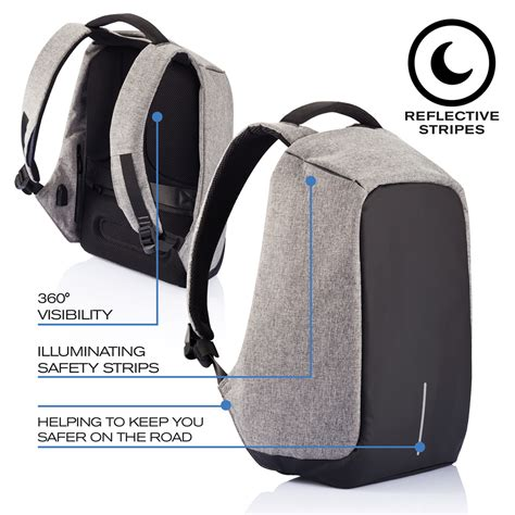 tas backpack anti theft bobby original anti theft backpack grey