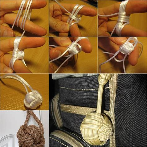 diy   tie  monkeys fist decorative knot