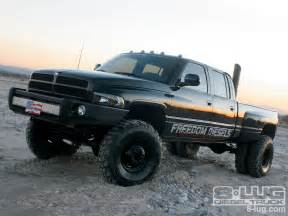 Dodge Ram 3500 Lifted with Stacks